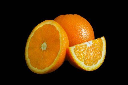 Orange isolated on black background