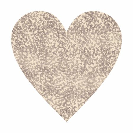 Heart with abstract animal snake print. Love wild life hand drawn illustration with object isolated on white background. Cute template for design and World Animal Day decoration.