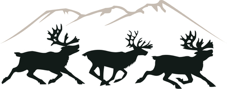 Running deer Ilustrace