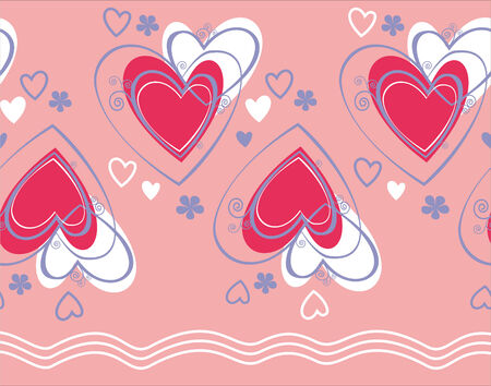 Seamless pattern vector with heart Illustration