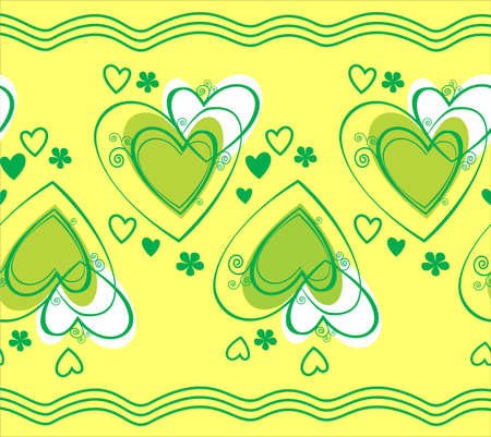Seamless pattern with heart Illustration