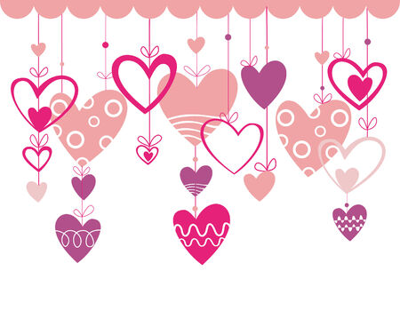 Love. Romantic background with heart