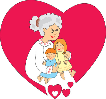 grandchildren: Granny with grandchildren