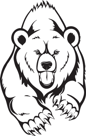 grizzly: Grizzly Brown Bear. Ilustracja