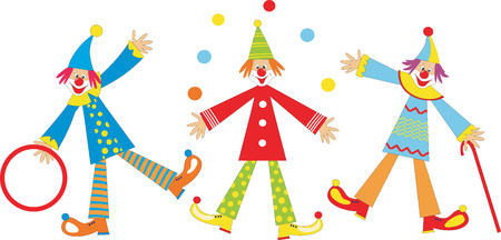 performers: Cheerful clowns