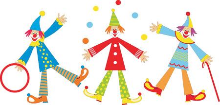the performer: Cheerful clowns