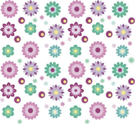 Seamless flower patten