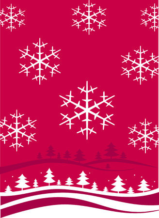 Winter Christmas Backgriund mit Schneeflocken
