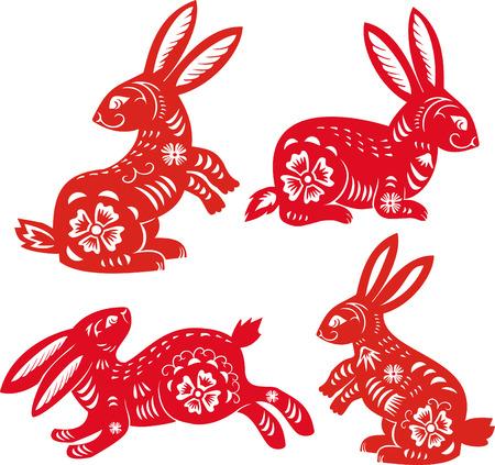 Chinese Zodiac of Rabbit Year.Simbol of 2011 year