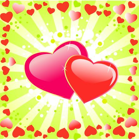 Hintergrund mit Herzen.Valentinstag abstract Illustration.
