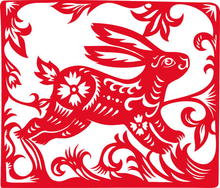 Chinese Zodiac of Rabbit Year. Vector