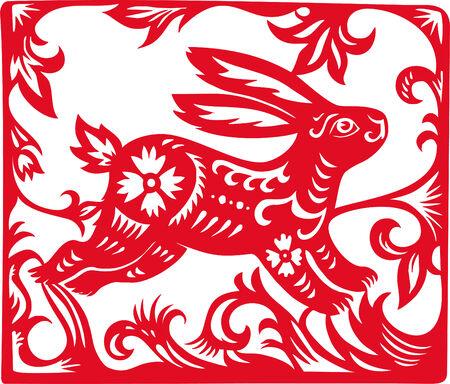Chinesische Sternzeichen Kaninchen Jahres.