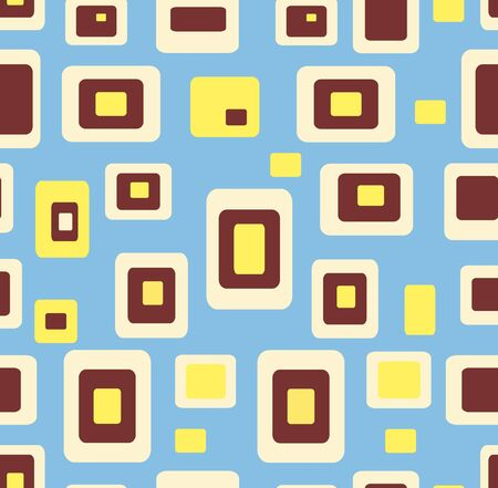 seventies: Seamless pattern geometric background Illustration