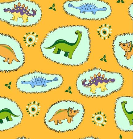 fossil: Dinosaur  background Illustration