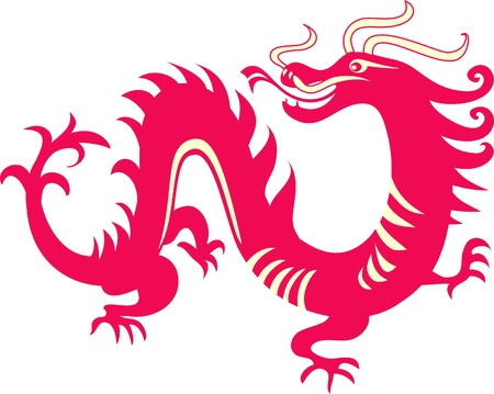Chinese dragon  Ilustrace