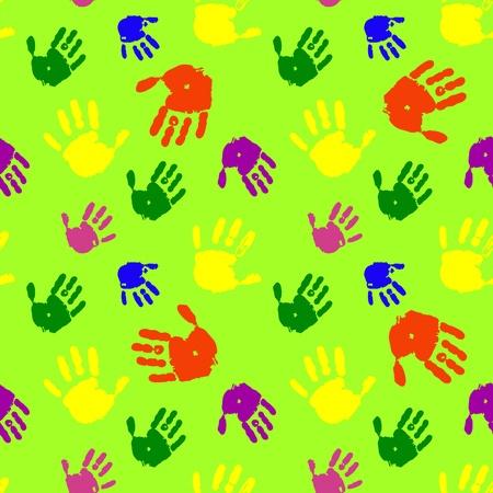 Color hands palms background Illustration