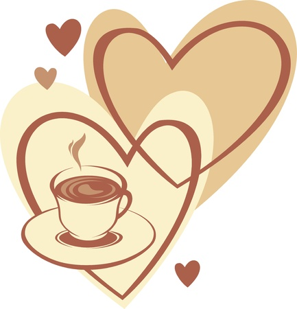 Coffee cup with love