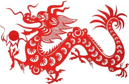 tatouage dragon: Traditionnel dragon chinois. Symbole de l'année 2012 Illustration