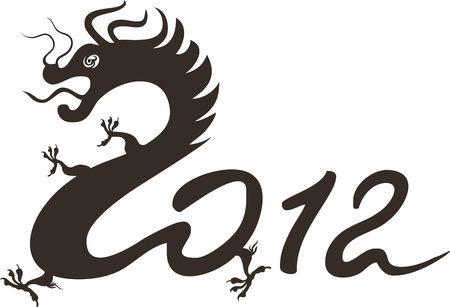 Dragon year 2012. Chinese zodiac Vector