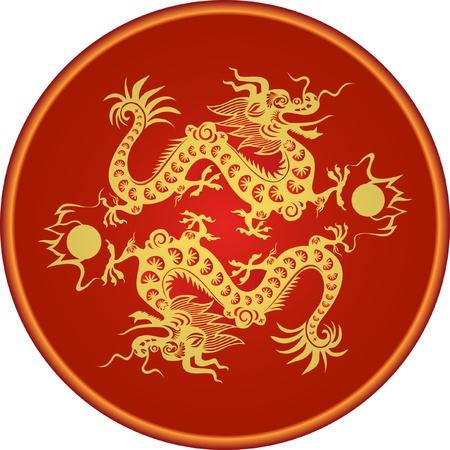 dragon chinois: Dragon pour l'année 2012. Illustration