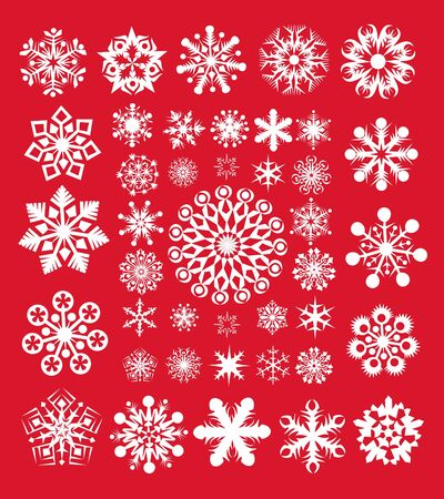 New Year snowflakes collection Illustration