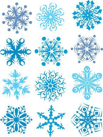 Snowflakes collection, Element f�r Design, Vektor-Illustration