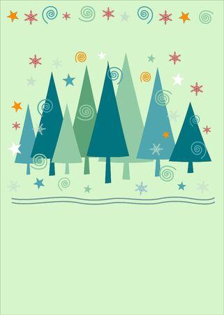 Christmas tree background  Ilustrace