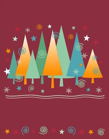 Weihnachtsbaum Hintergrund Illustration