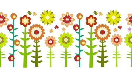 Seamless flower patten illustration
