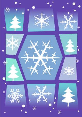 Winter-Hintergrund Illustration