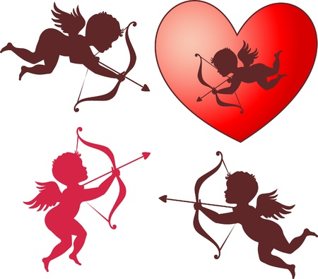 Cupid collection for Valentines day Stock Vector - 11980892