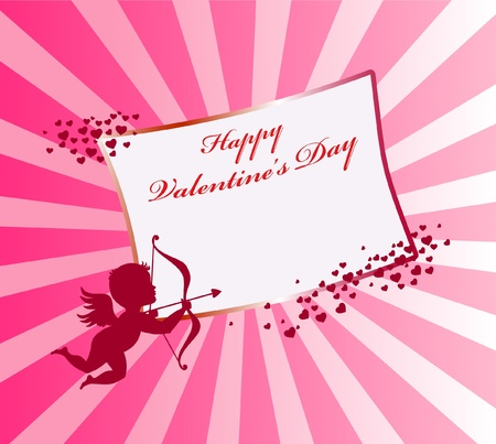 Valentine's day card with cupid