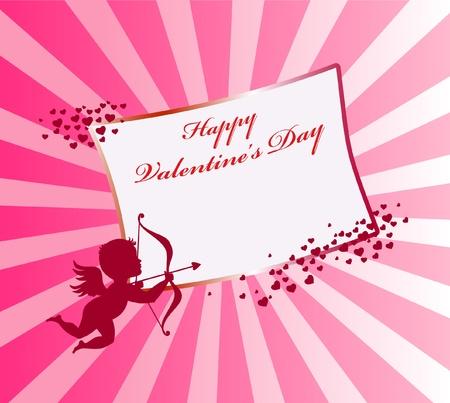 Valentinstag-Karte mit Amor