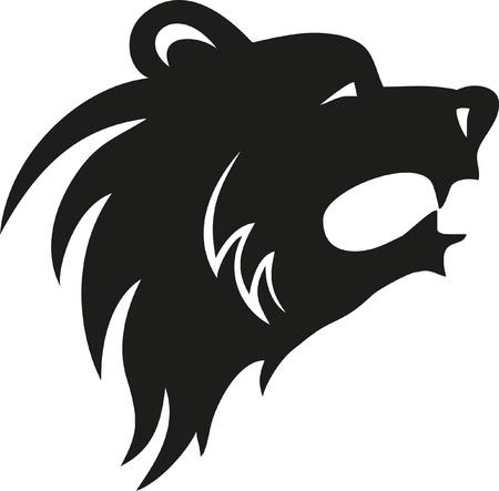 Vektor-Illustration von Grizzly Bear Kopf