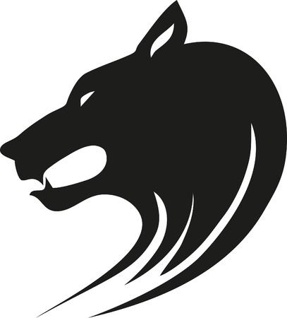 lobo: Tribal lobo salvaje. Vector de estilo tatuaje.
