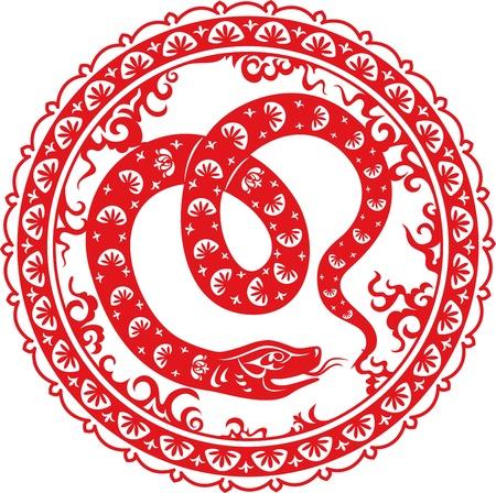Snake year 2013   Chinese zodiac symbol