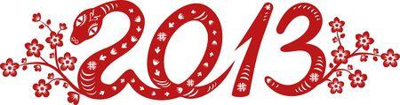 Snake Jahr 2013 chinesische Tierkreissymbol