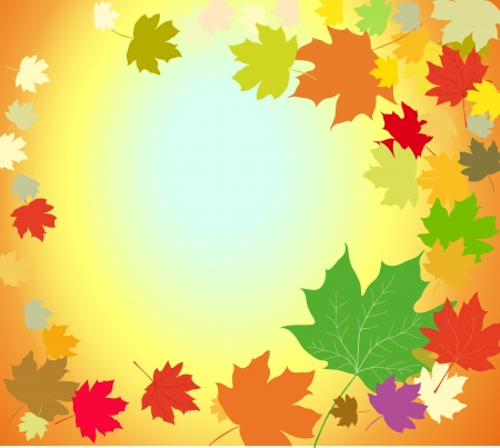 Autumn leaves abstract background Illustration