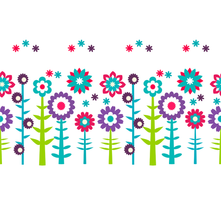Summer flowers  pattern background Ilustrace