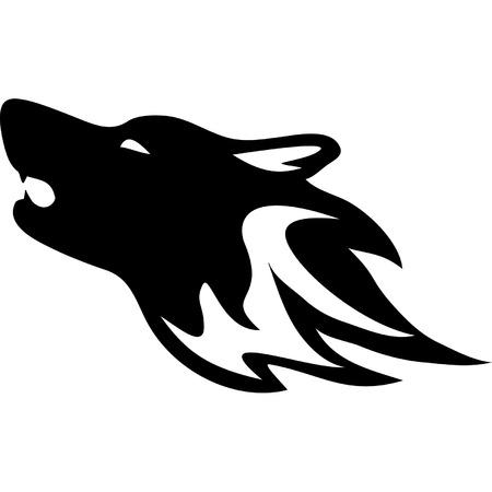 Tribal wild wolf  Tattoo style vector  Ilustrace