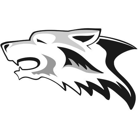 Wolf head - tribal tattoo