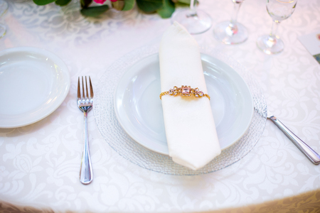 catered: table set for wedding or another catered event dinner. table set for wedding or another catered event dinner
