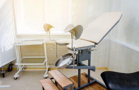 gynecological chair in the maternity hospital office