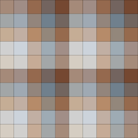 Brown and blue checkered seamless pattern Vector