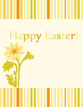 Yellow and green easter card Vector