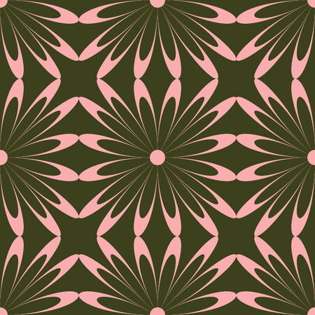 Fashionable pink flower seamless pattern Stock Vector - 4460967