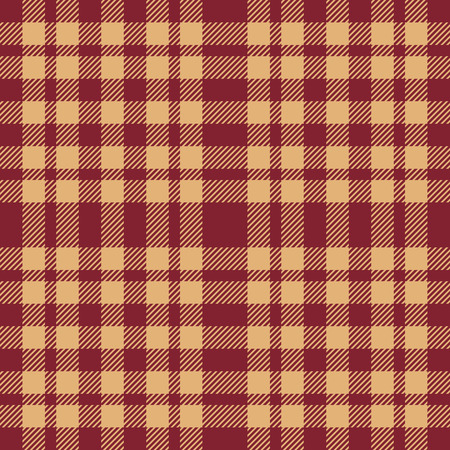 Beige and brown seamless plaid pattern Illustration