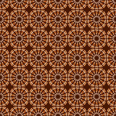 Orange and brown retro flower seamless pattern. Stock Vector - 5612174