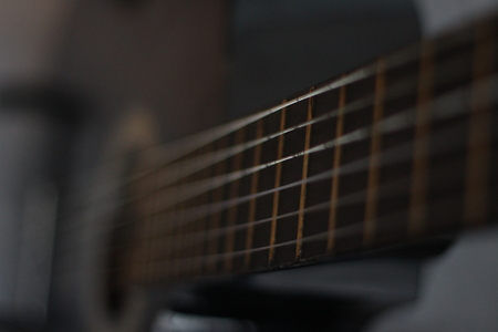 shure: Strings on a classic guitar