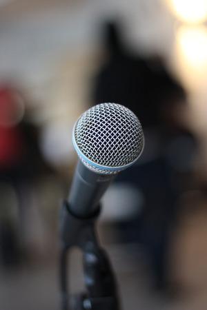 shure: A dynamic microphone Stock Photo